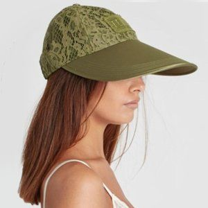 Fenty by Rihanna Oversized Green Lace Visor Cap